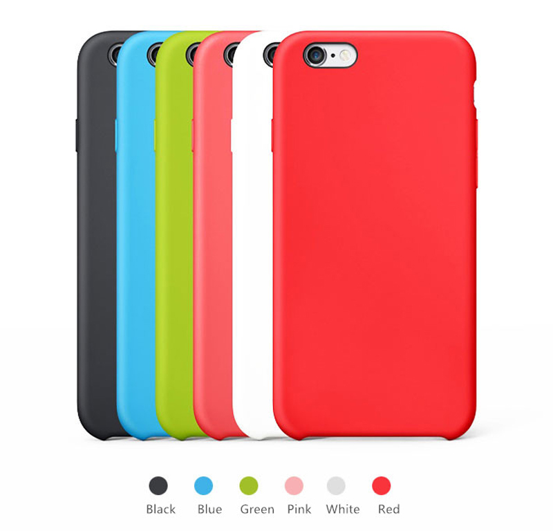 Perfect Red Silicone Protective Cases Or Covers For iPhone 6S 6 Plus ...