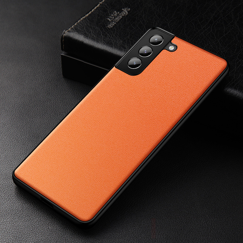 best 2016 real leather orange s7 and s7 edge protective
