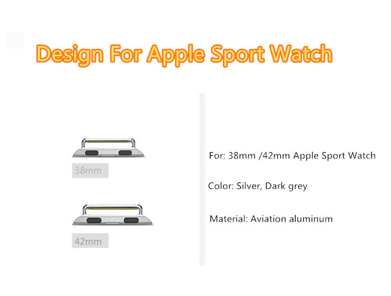 Aviation Aluminum Apple Watch Band Connector For 38 42 MM Sport Models AWB03_9