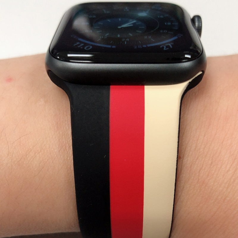 Silicone 38 40 42 44 MM Band Strap For Apple Watch AWB11_11
