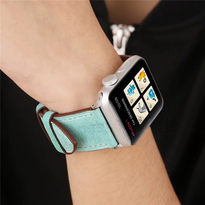 Leather 38 40 42 44 MM Band Strap For Apple Watch AWB11_14