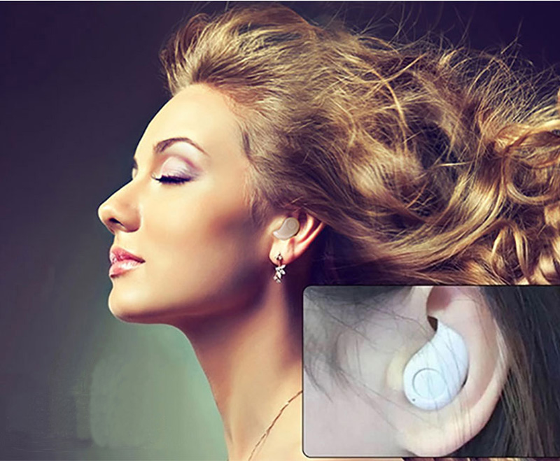 Smallest Pink Bluetooth Headset Mini Wireless Sport Headphones BTE02_6
