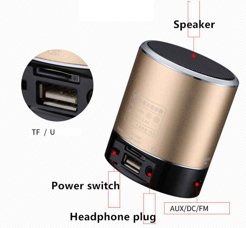 Wireless Bluetooth Mini Speaker For Phone PC Notebook BTE03_11