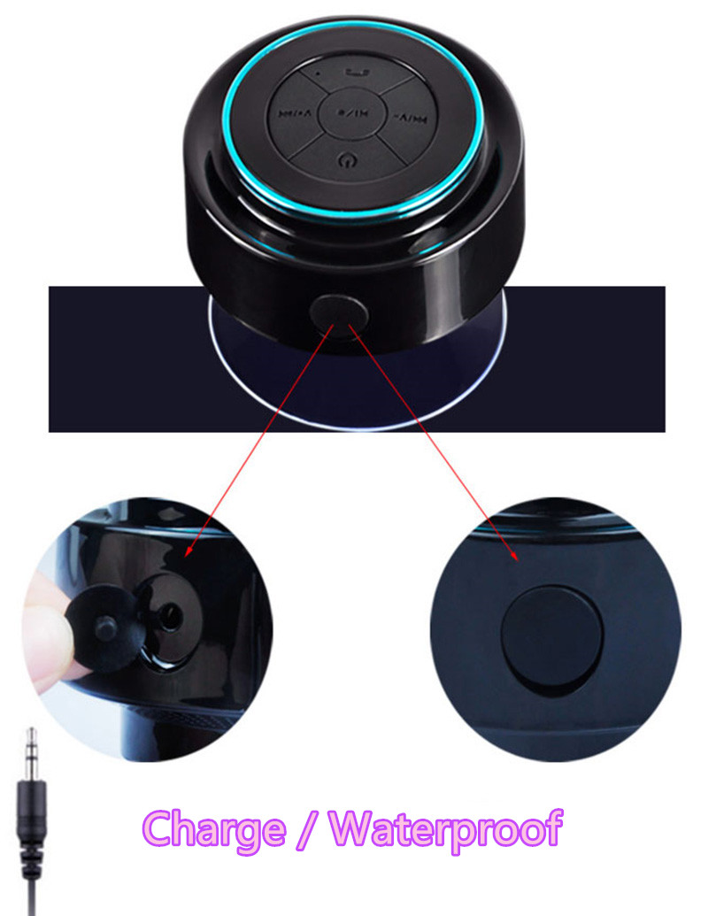 Portable Waterproof Mini Wireless Bluetooth Speaker For