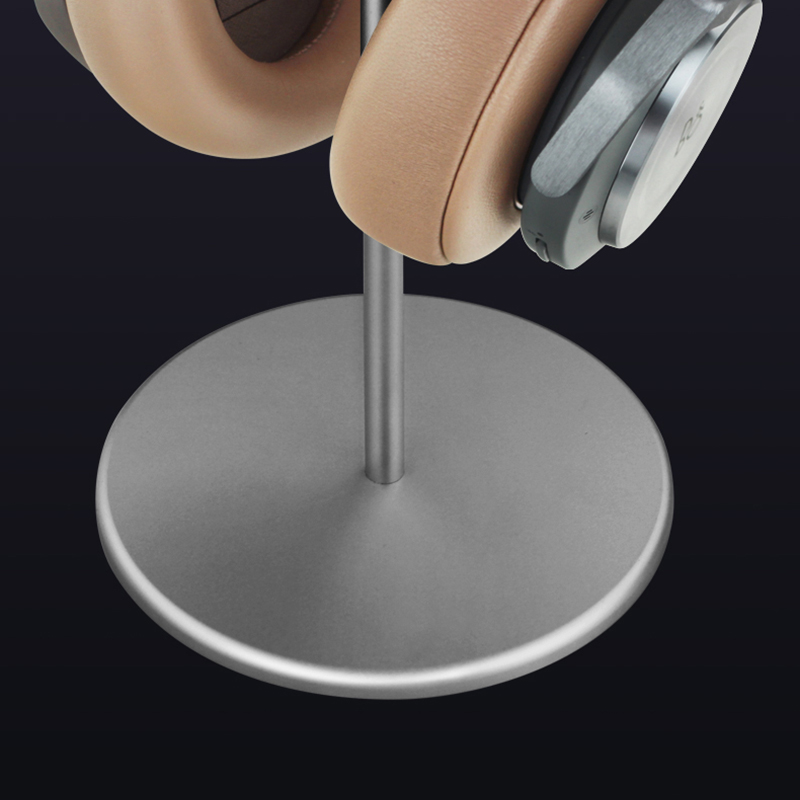 Universal Aluminum Alloy Headphone Holder Stand With Wood Hanger BTE05_10