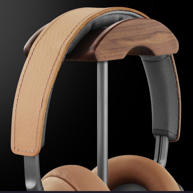 Universal Aluminum Alloy Headphone Holder Stand With Wood Hanger BTE05_8