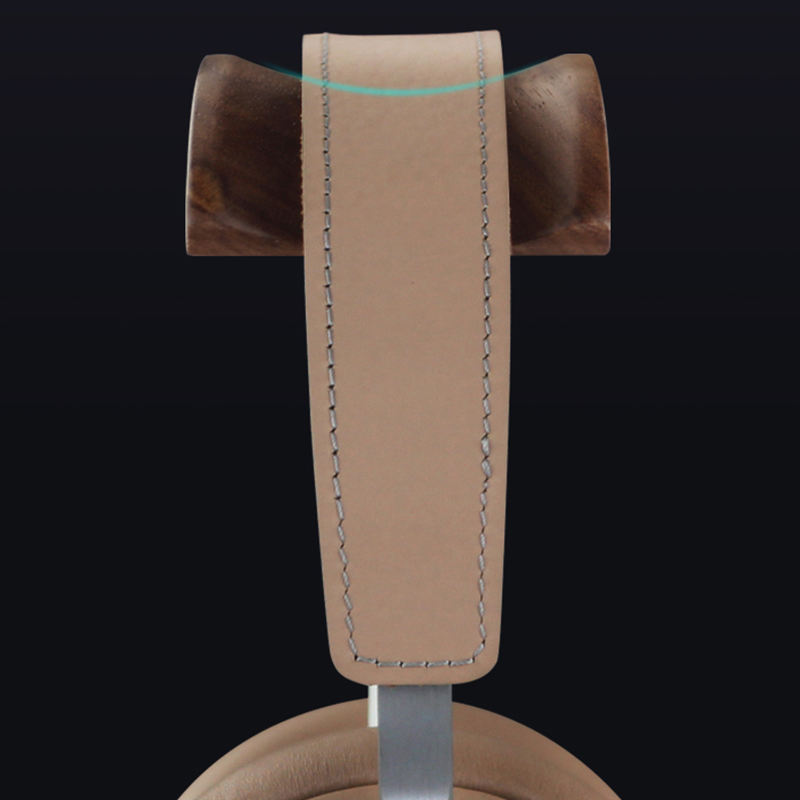 Universal Aluminum Alloy Headphone Holder Stand With Wood Hanger BTE05_9