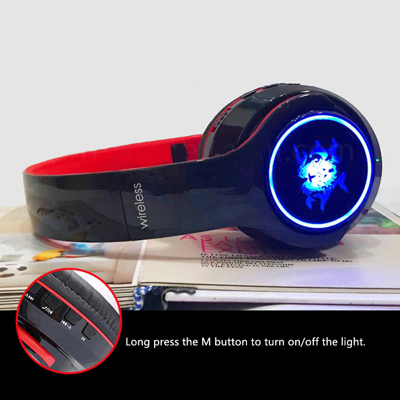 Wireless Bluetooth Gaming Headset With Luminous Logo BTE08_8