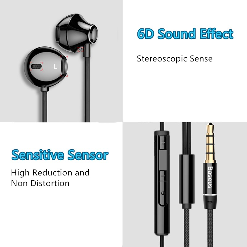 In Ear Heavy Subwoofer Stereo Music Phone Headphone With Microphone BTE12_9