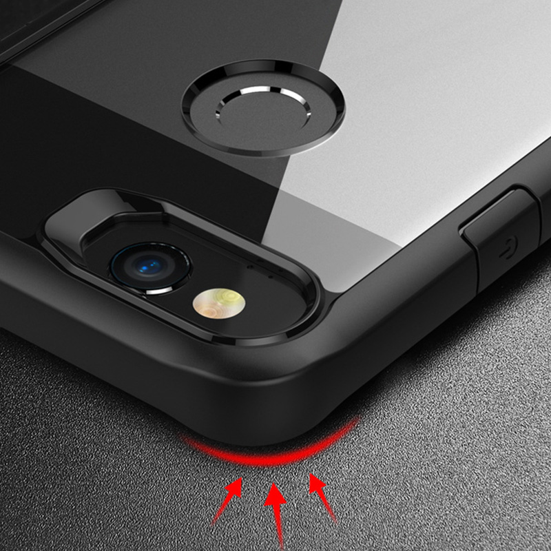 Protective Transparent Back Google Pixel 2 And XL Case Cover GPC06_8