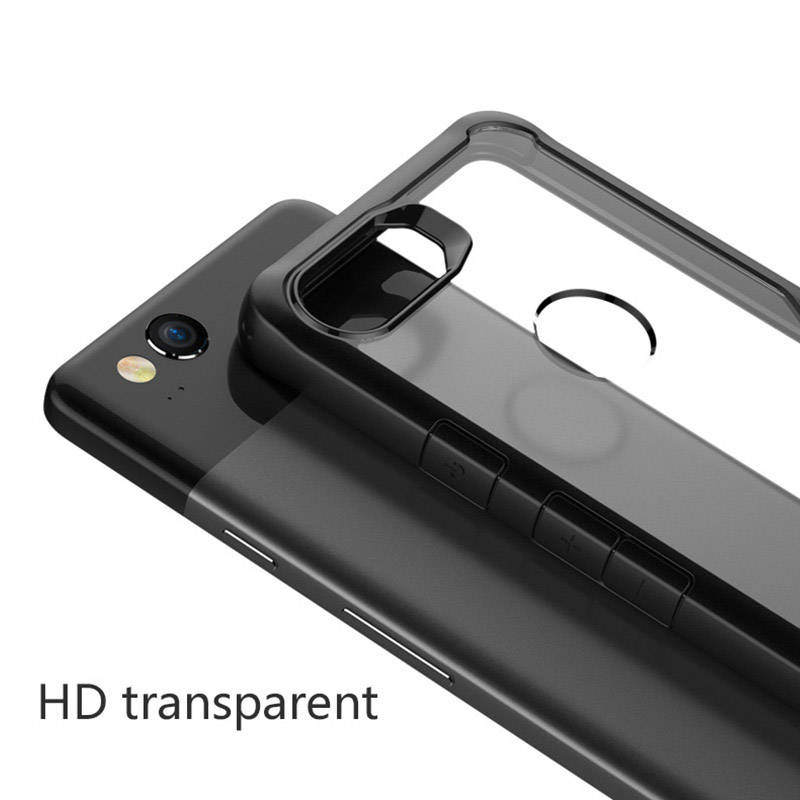 Protective Transparent Back Google Pixel 2 And XL Case Cover GPC06_9