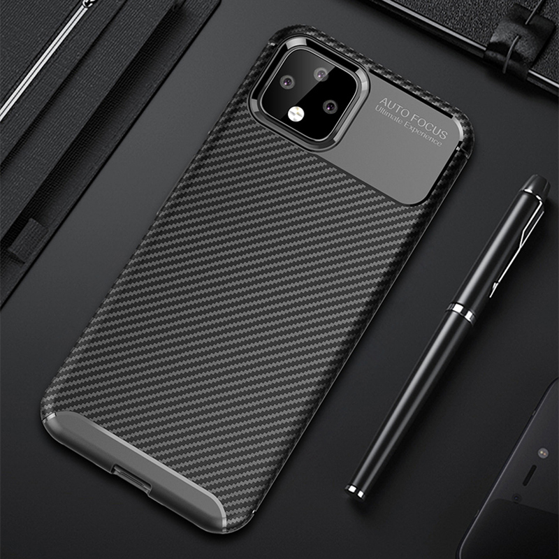 Carbon Fiber Pattern Silicone Case For Google Pixel 4 And XL GPC11_10
