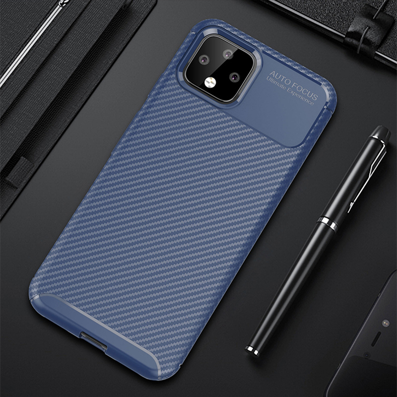 Carbon Fiber Pattern Silicone Case For Google Pixel 4 And XL GPC11_11