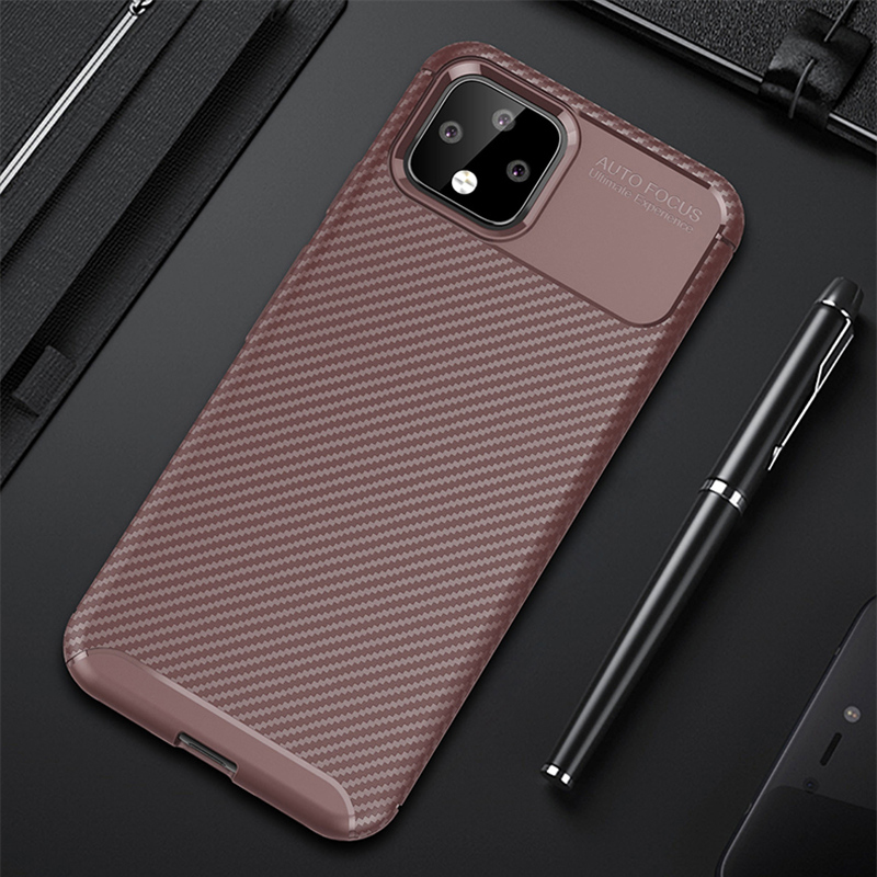 Carbon Fiber Pattern Silicone Case For Google Pixel 4 And XL GPC11_12