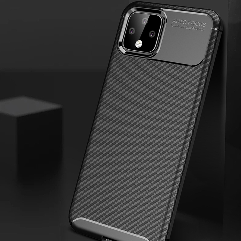 Carbon Fiber Pattern Silicone Case For Google Pixel 4 And XL GPC11_7