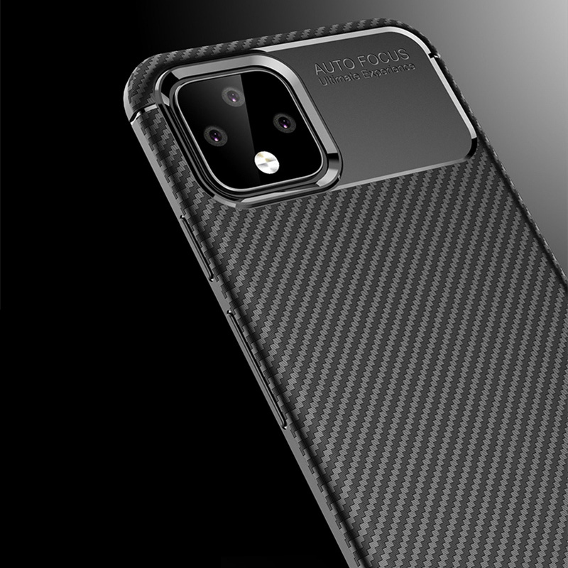 Carbon Fiber Pattern Silicone Case For Google Pixel 4 And XL GPC11_8