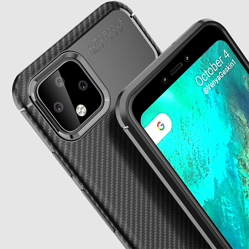 Carbon Fiber Pattern Silicone Case For Google Pixel 4 And XL GPC11_9
