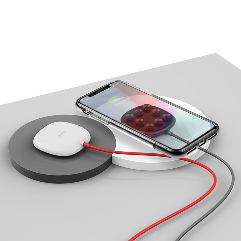 Suction Cap Wireless Charger For iPhone Samsung Android Phone ICD10_11