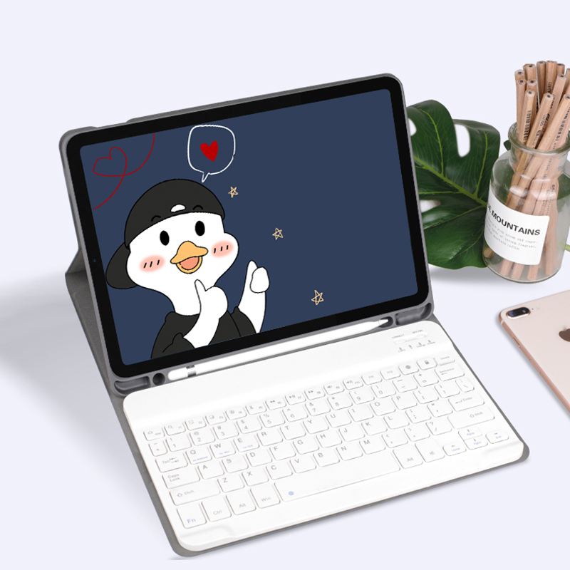 Best Leather iPad Air Pro Mini 2018 New iPad Keyboard With Cover IP502_7