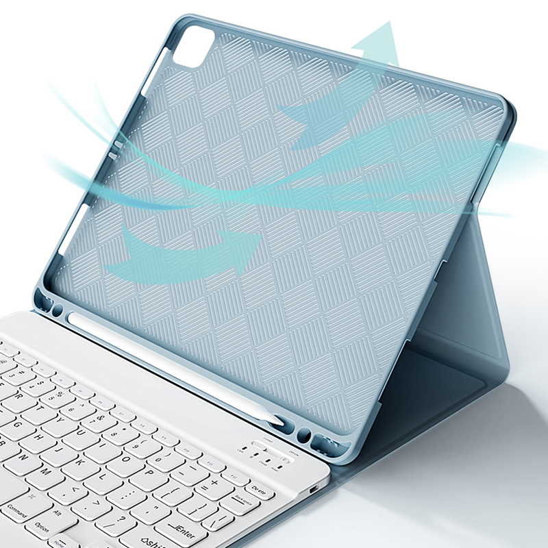 Bluetooth Keyboard With Cover For iPad Air Pro Mini New iPad IP503_11