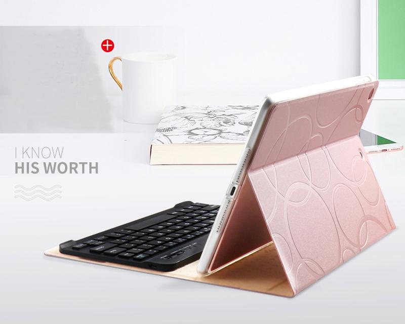 Smart Protective iPad Air 1 2 2017 New iPad Keyboard Cover IP505_10