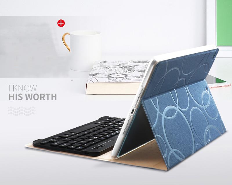 Smart Protective iPad Air 1 2 2017 New iPad Keyboard Cover IP505_11
