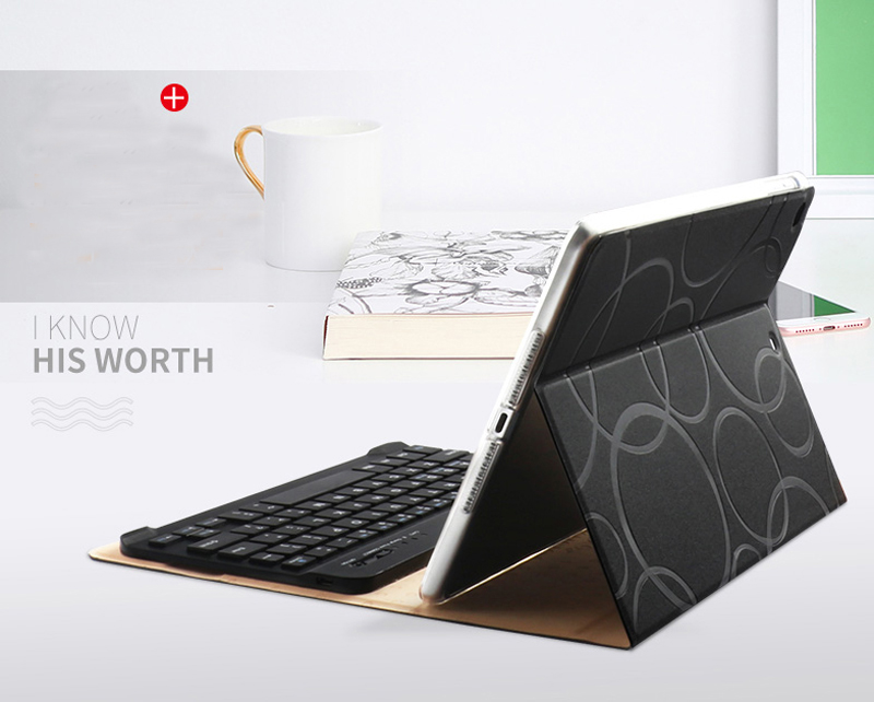Smart Protective iPad Air 1 2 2017 New iPad Keyboard Cover IP505_12