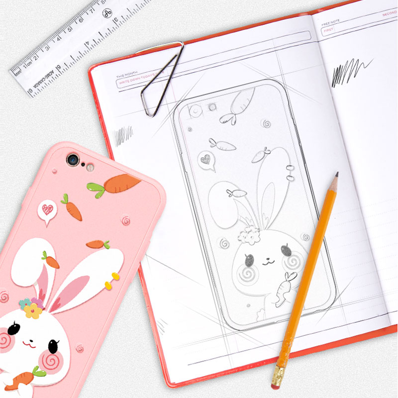 2019 Cute Cartoon Pattern Silicone Case Cover For iPhone 6 6S Plus IP6S02_10