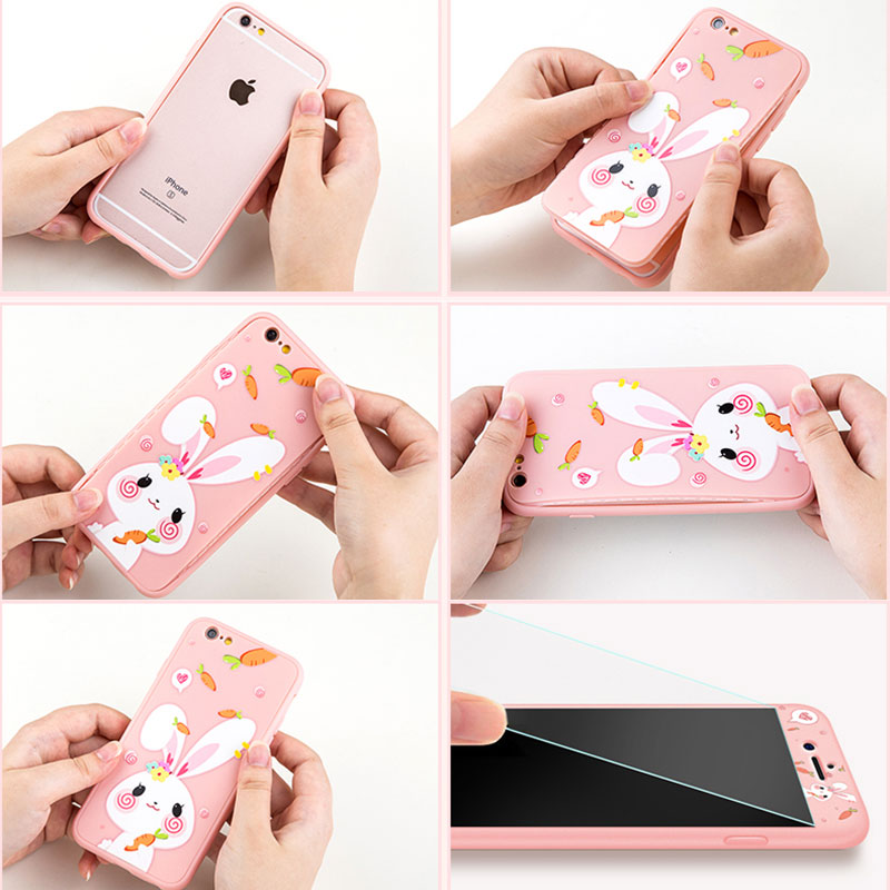 2019 Cute Cartoon Pattern Silicone Case Cover For iPhone 6 6S Plus IP6S02_12