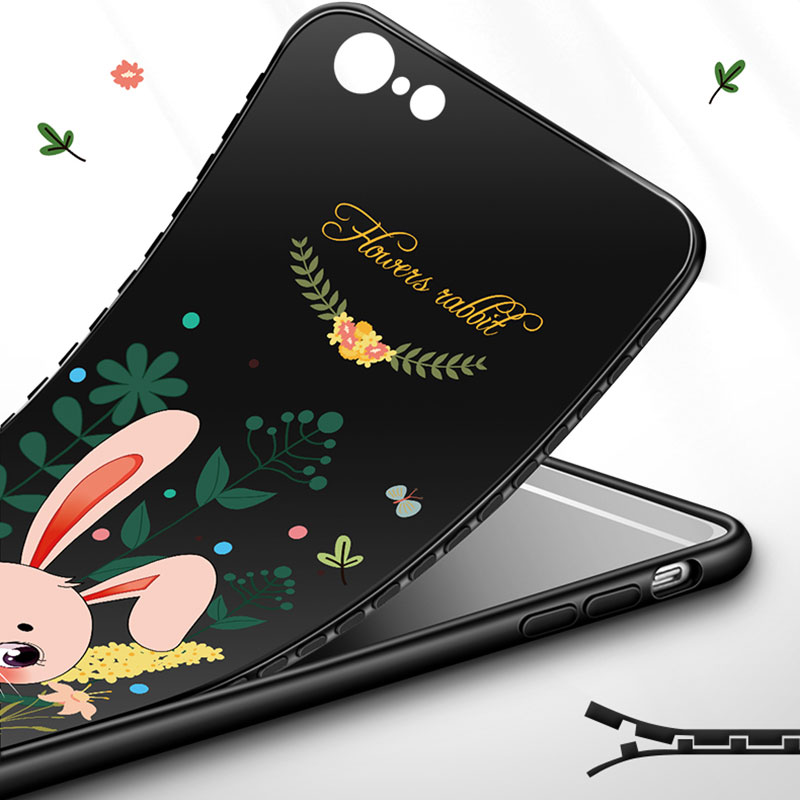 2019 Cute Cartoon Pattern Silicone Case Cover For iPhone 6 6S Plus IP6S02_8