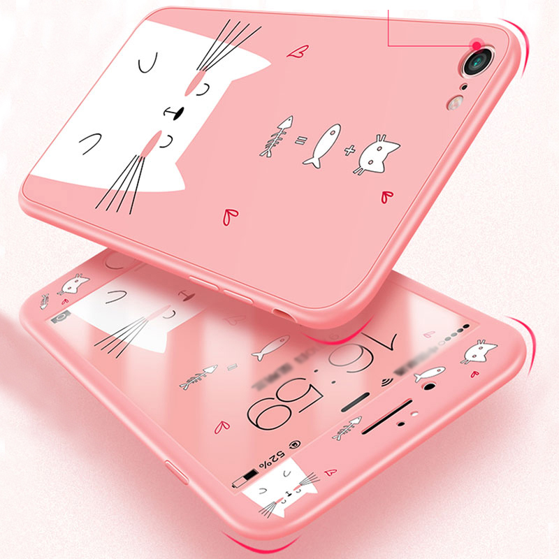 2019 Cute Cartoon Pattern Silicone Case Cover For iPhone 6 6S Plus IP6S02_9