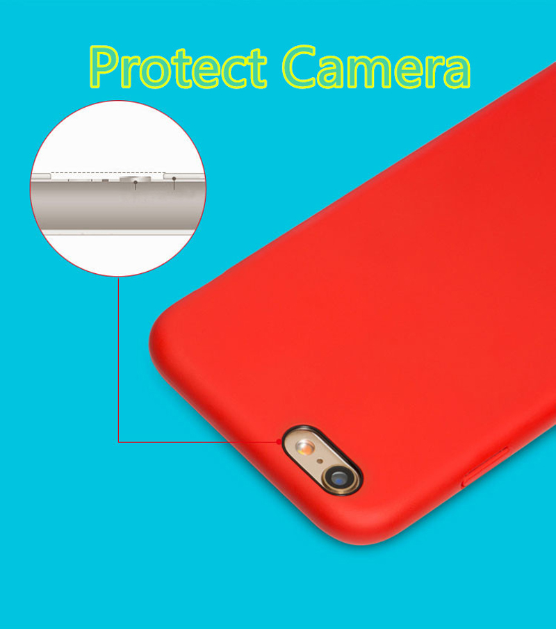 Perfect Silicone Protective Case Cover For iPhone 8 7 6S 6 Plus IP6S03_10
