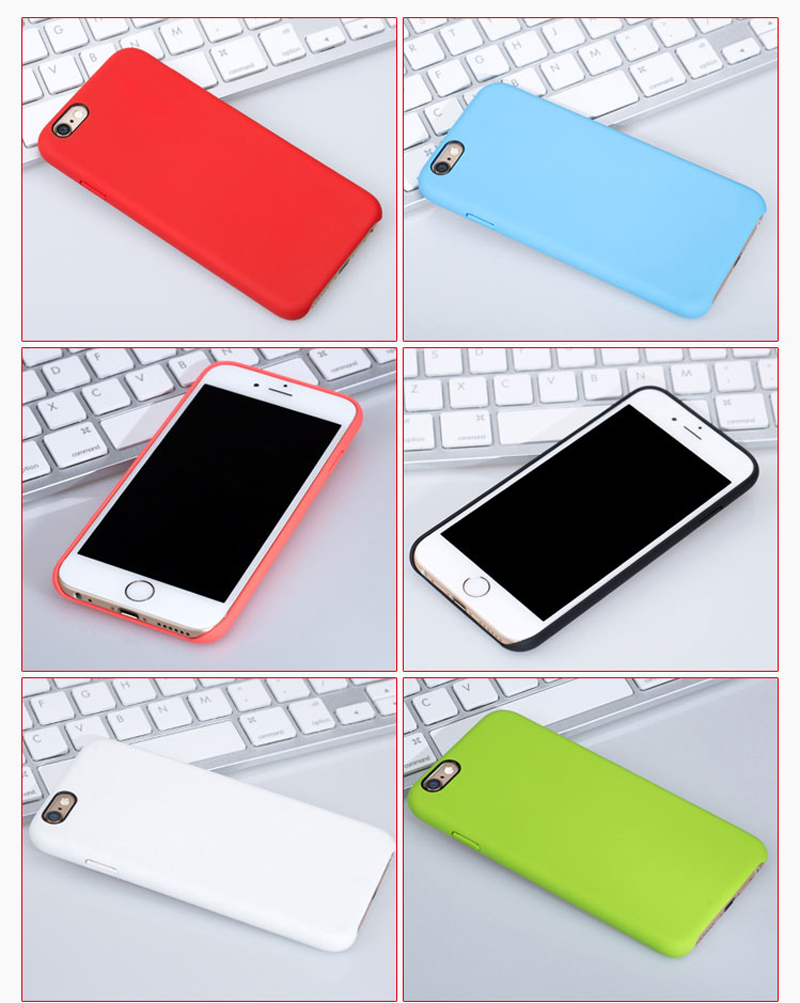 Perfect Silicone Protective Case Cover For iPhone 8 7 6S 6 Plus IP6S03_13
