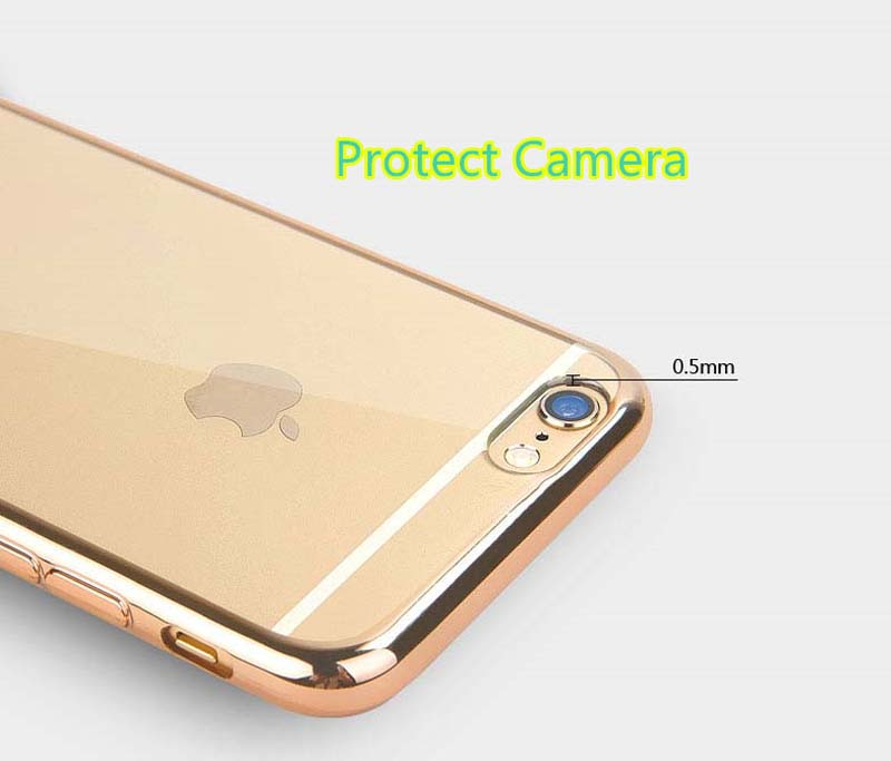 2019 Cheap Gold iPhone 6S And 6S Plus Silicone Case Cover With Metal Frame IP6S05_11