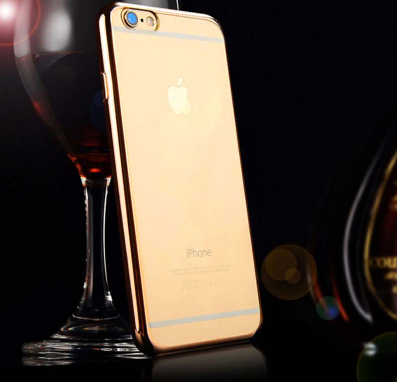 2019 Cheap Gold iPhone 6S And 6S Plus Silicone Case Cover With Metal Frame IP6S05_13