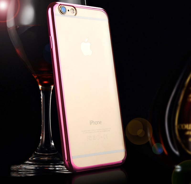 2019 Cheap Gold iPhone 6S And 6S Plus Silicone Case Cover With Metal Frame IP6S05_14