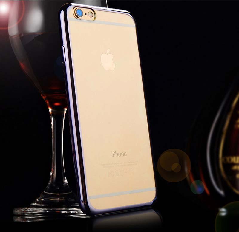 2019 Cheap Gold iPhone 6S And 6S Plus Silicone Case Cover With Metal Frame IP6S05_15