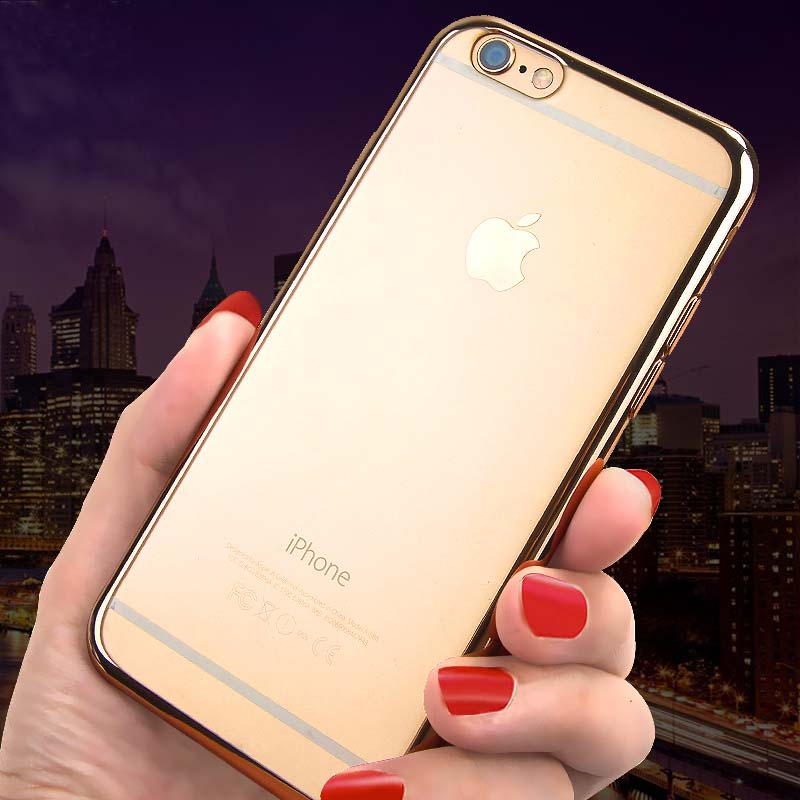 2019 Cheap Gold iPhone 6S And 6S Plus Silicone Case Cover With Metal Frame IP6S05_6