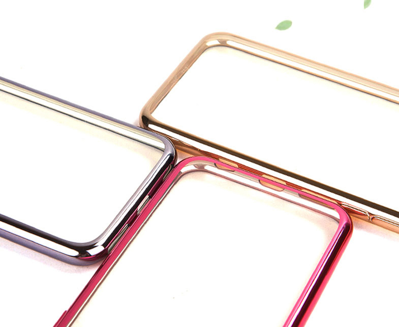 2019 Cheap Gold iPhone 6S And 6S Plus Silicone Case Cover With Metal Frame IP6S05_8
