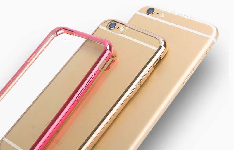 2019 Cheap Gold iPhone 6S And 6S Plus Silicone Case Cover With Metal Frame IP6S05_9
