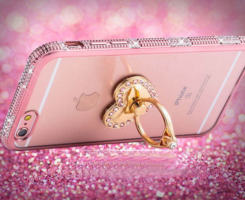 Perfect Diamond iPhone 8 7 6 6S Plus Case With Heart-shaped buckle And Lanyard IP6S13_10