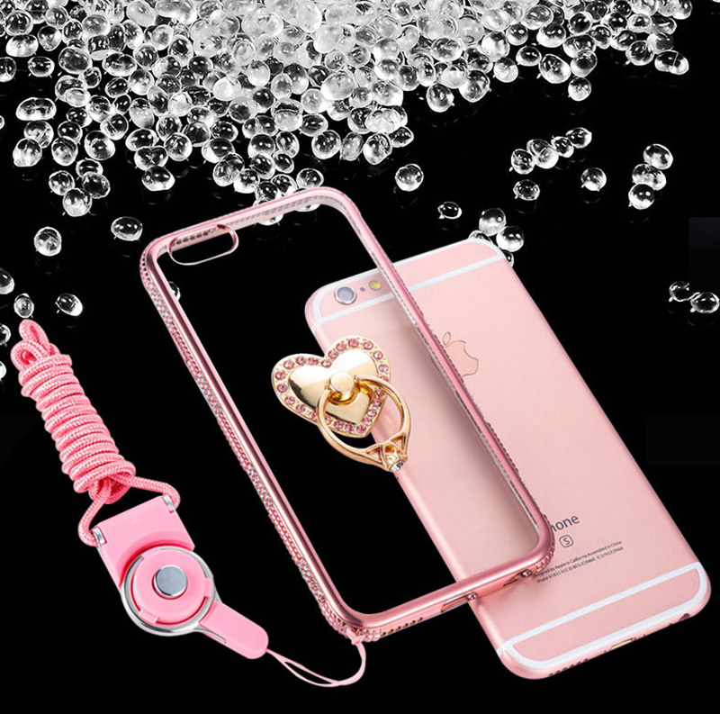 Perfect Diamond iPhone 8 7 6 6S Plus Case With Heart-shaped buckle And Lanyard IP6S13_11