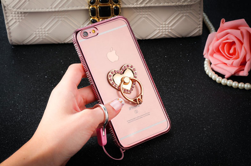 Perfect Diamond iPhone 8 7 6 6S Plus Case With Heart-shaped buckle And Lanyard IP6S13_16