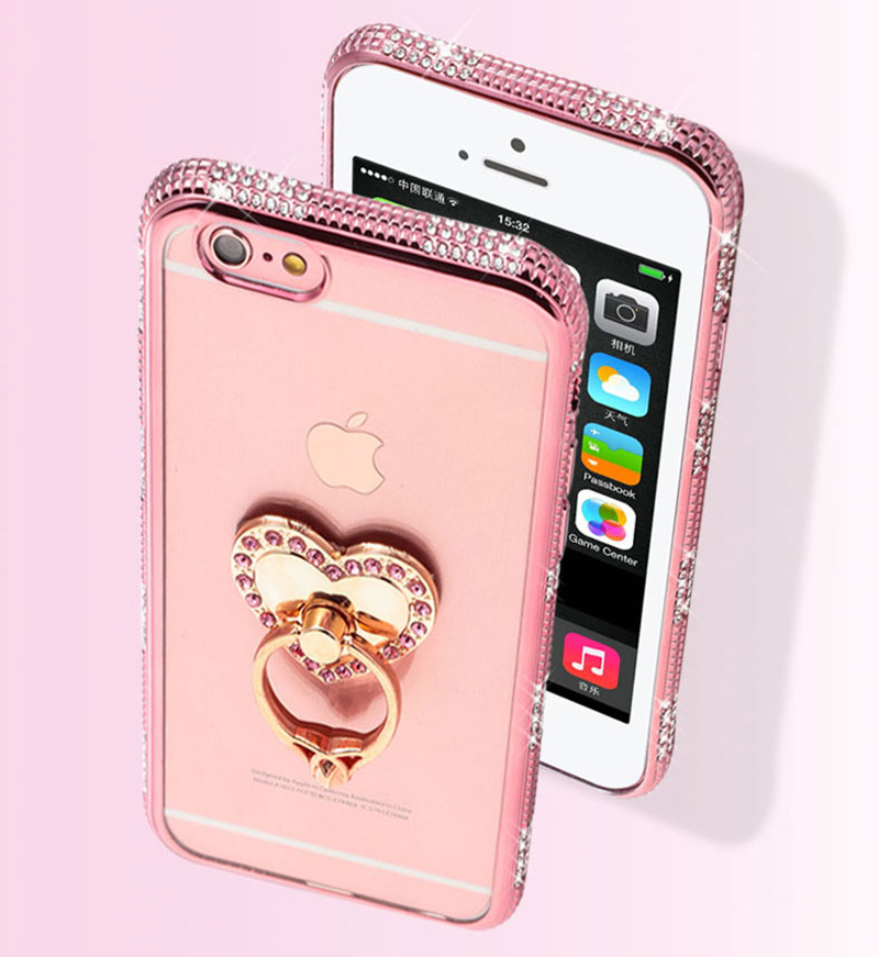 Perfect Diamond iPhone 8 7 6 6S Plus Case With Heart-shaped buckle And Lanyard IP6S13_9