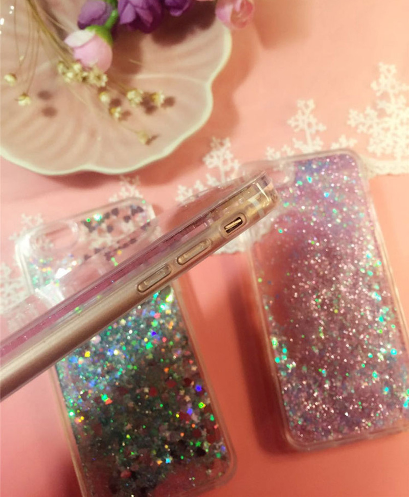 Perfect Glitter Flowing Sequins Cases Cover For iPhone 8 7 6 6S Plus IP6S15_10