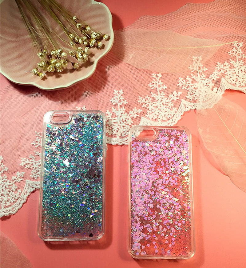 Perfect Glitter Flowing Sequins Cases Cover For iPhone 8 7 6 6S Plus IP6S15_11