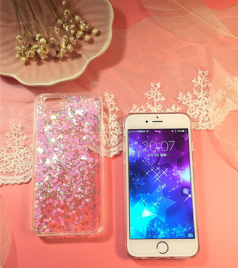 Perfect Glitter Flowing Sequins Cases Cover For iPhone 8 7 6 6S Plus IP6S15_8