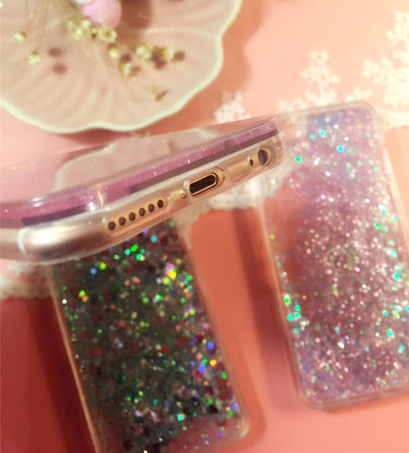 Perfect Glitter Flowing Sequins Cases Cover For iPhone 8 7 6 6S Plus IP6S15_9