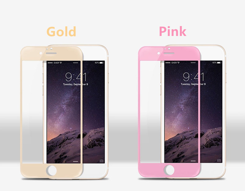 Cheap Metal White Glass Screen Protector iPhone 6 And 6 Plus IPASP03_6