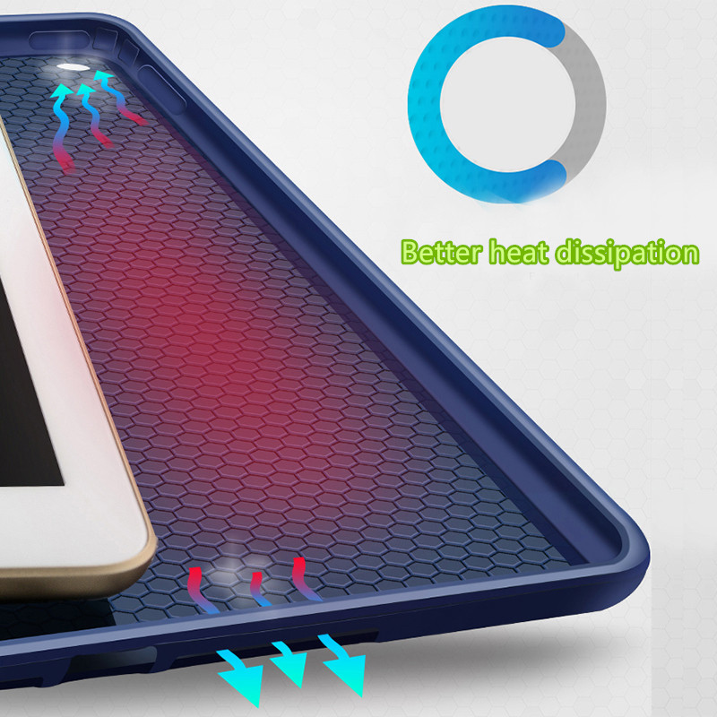 Perfect Silicone Navy blue iPad Air Case Cover IPC02_11